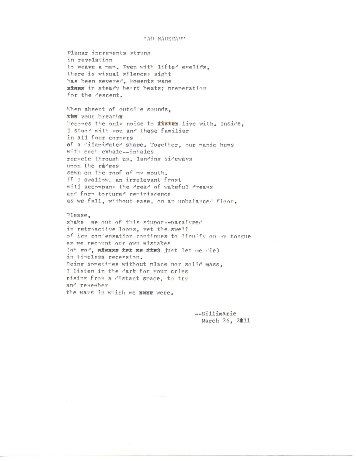 long poems | typewriter poetry