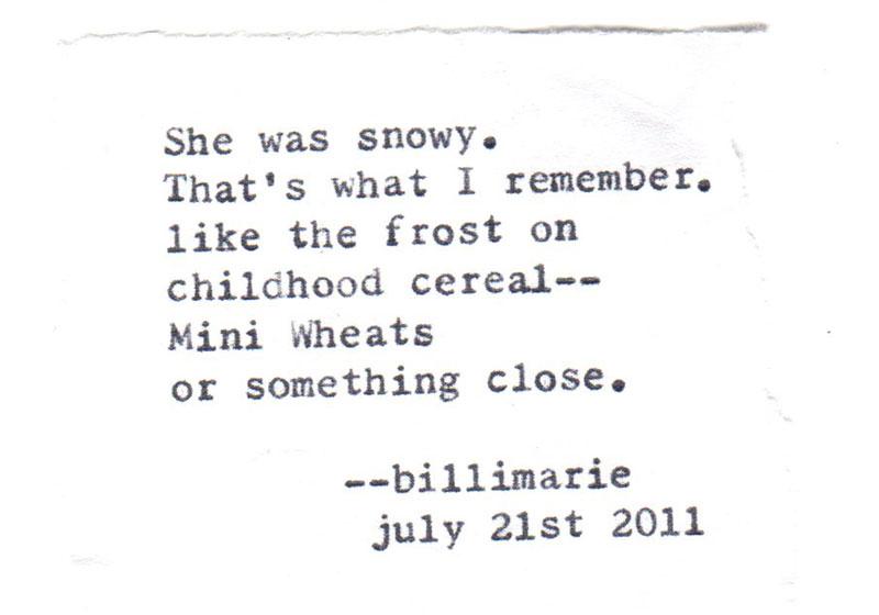 short poems | typewriter poetry